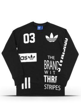 Black printed Adidas sweater