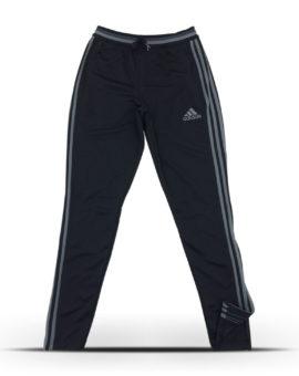 Grey stripe Adidas pants