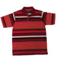 MENS FASHION RED STRIPE GOLFER* SELECTED STORES*-