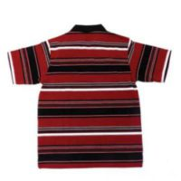 MENS FASHION RED & BLACK STRIPE GOLFER* SELECTED STORES*
