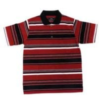 MENS FASHION RED & BLACK STRIPE GOLFER* SELECTED STORES* FRONT