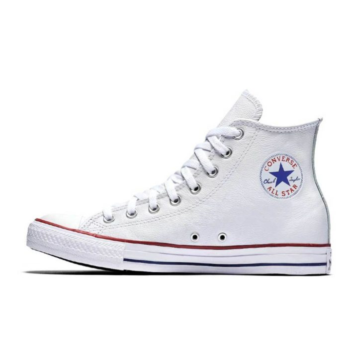 CONVERSE ALL STAR BASIC LEATHER HI WHITE