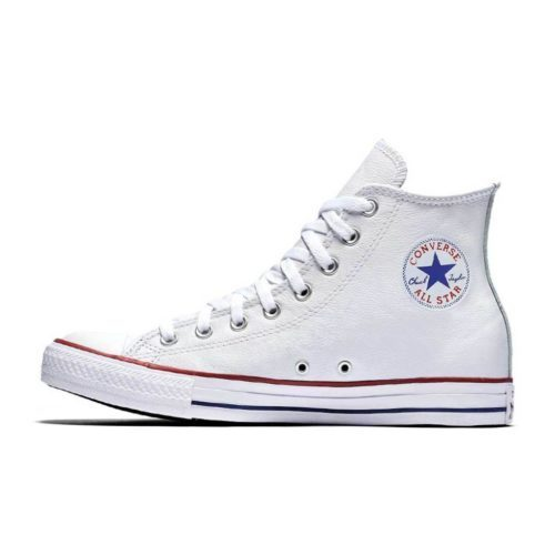 CONVERSE ALL STAR BASIC LEATHER HI WHITE