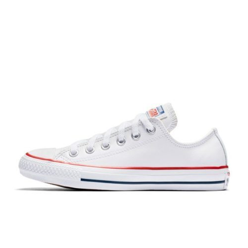 25a635c69e297 CONVERSE ALL STAR BASIC LEATHER LOW WHITE – Skipper Bar