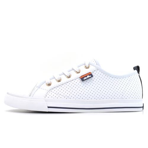 ellesse Italia Amber Micro Punch White Sneaker