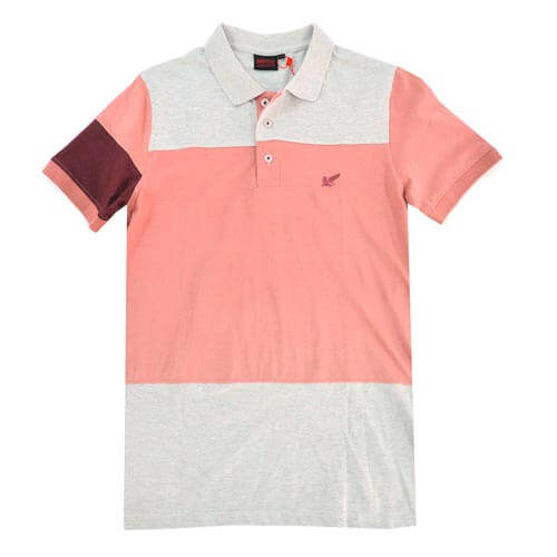 NIKOS PINK COLOUR BLOCK GOLFER