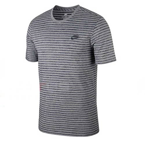 NIKE GREY STRIPED TEE