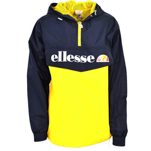 ellesse Heritage Lightweight Jacket Black Yellow