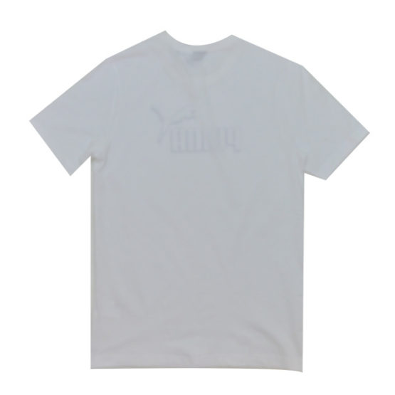 PUMA LOGO TEE WHITE MEN'S