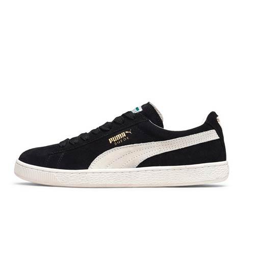 separation shoes f5474 2bd11 PUMA BLACK WHITE SUEDE CLASSIC