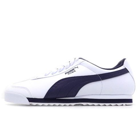 PUMA ROMA WHITE AND NAVY SNEAKER