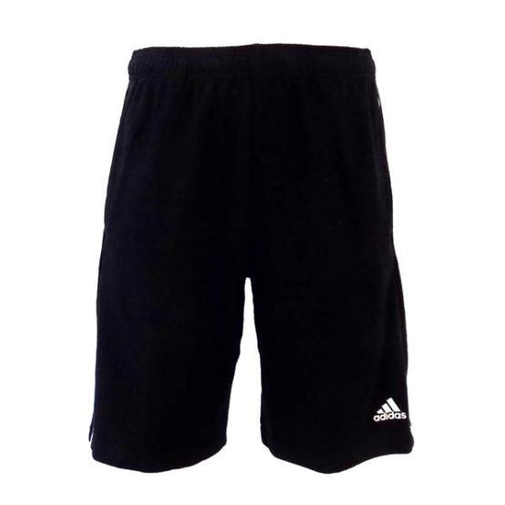 ADIDAS BLACK PERFORMANCE JERSEY 3S SHORTS