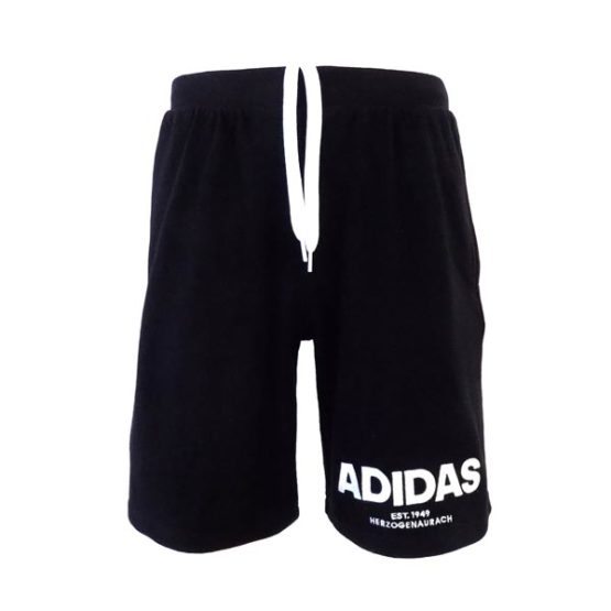 ADIDAS BLACK PERFORMANCE JERSEY SHORTS