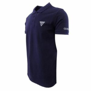 GUS4582 GUESS GOLF SHIRT NAVY SIDE