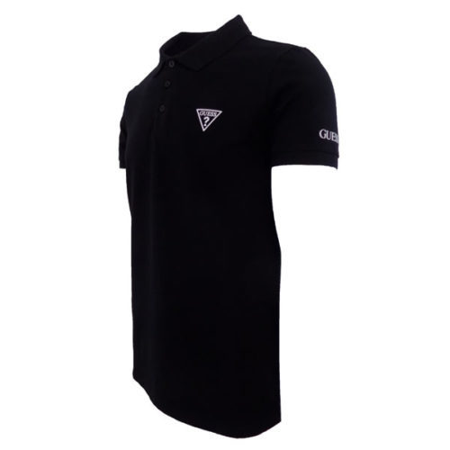 GUESS BLACK POLO SHIRT SLIM FIT