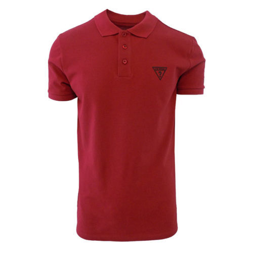 GUESS RIVERA RED POLO SHIRT SLIM FIT