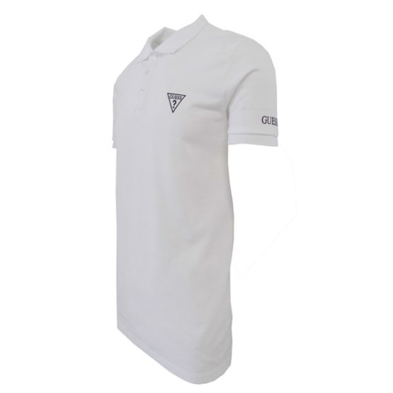 GUESS WHITE POLO SHIRT SLIM FIT