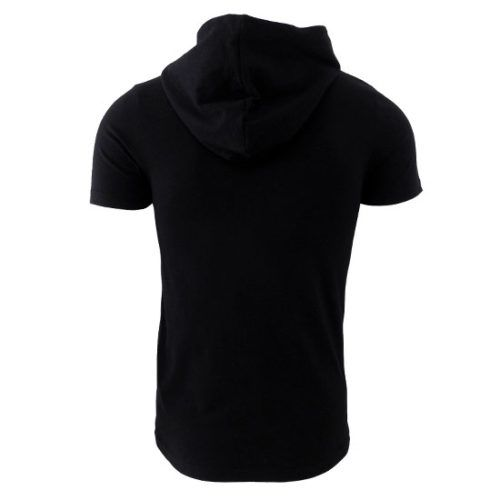 LONDON REPUBLIC BLACK HOODED GRAPHIC TEE