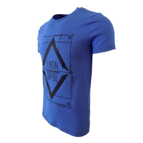 LONDON REPUBLIC BLUE GRAPHIC TEE