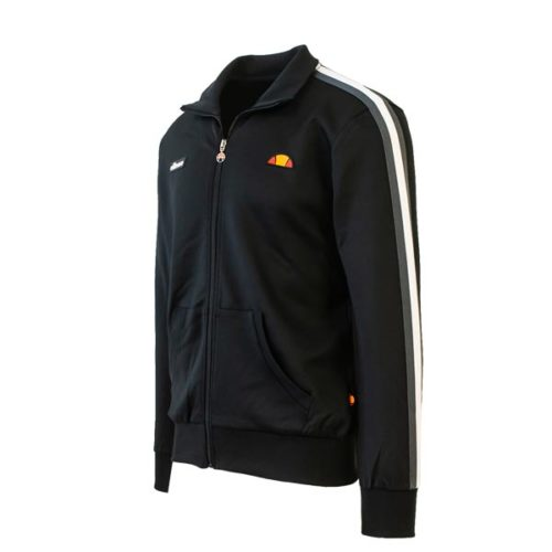 new products fddfa 19e0a ellesse Heritage Black Panel Track Jacket