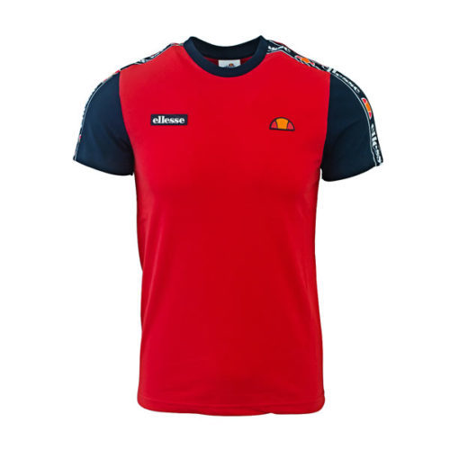 ellesse Heritage Red Tape Panel Detail Tshirt