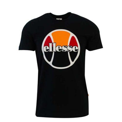ellesse Heritage Tennis Ball Logo T Shirt Black