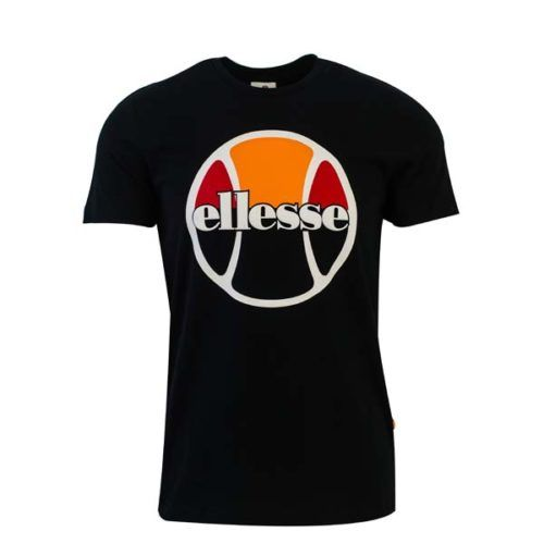 ellesse Heritage Tennis Ball Logo T Shirt Black