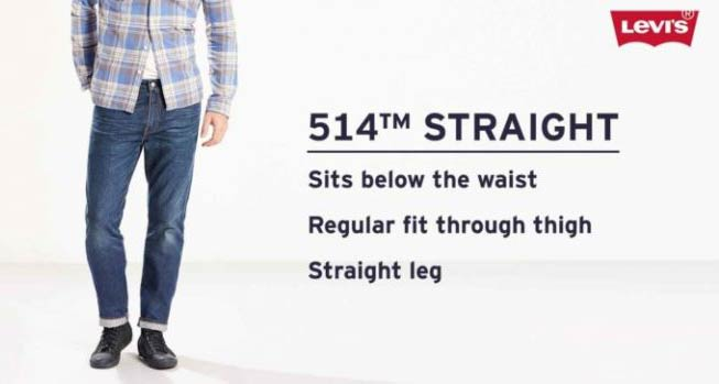 514 straight denim levis jeans