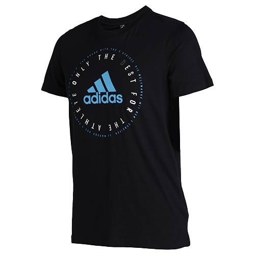 ADIDAS BLACK EMBLEM GRAPHIC TEE