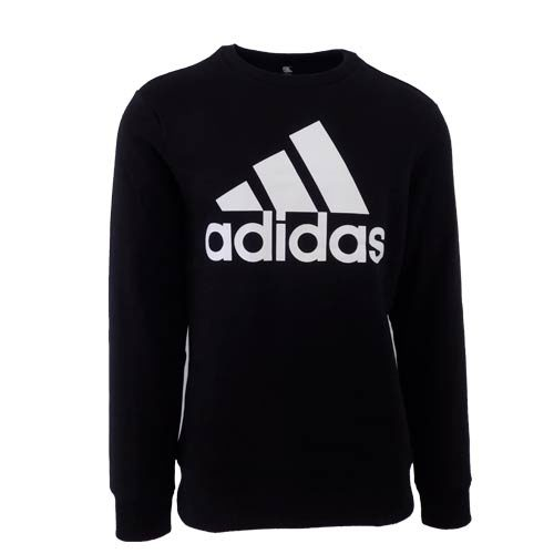 ADIDAS BLACK CREW NECK SWEATER