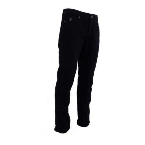 GUESS MEN'S ONYX SLIM STRAIGHT BLACK JEANS