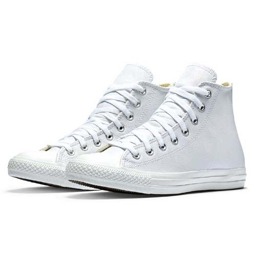 White Leather Star Hi All Converse Mono lJK1cuF3T