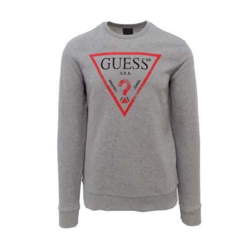 GUESS-ICONIC-CREW-NECK-TOP-GREY-GUS520LG