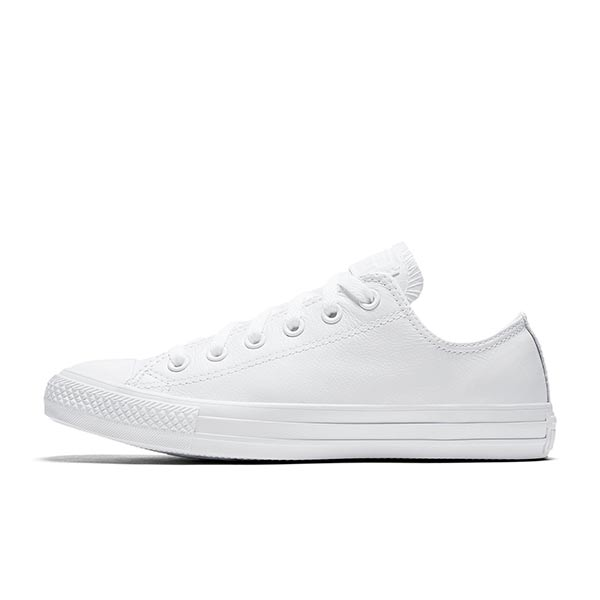 CONVERSE YOUTH ALL STAR LEATHER MONO WHITE ALL31YLB 2
