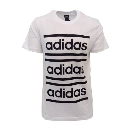 ADIDAS BRANDED WHITE TEE