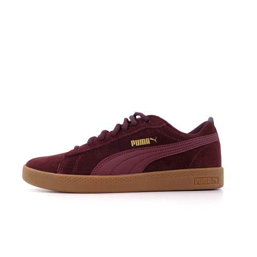 PMA1275RG 365313 17 Puma Smash WNS v2 Vineyard wine puma team gold