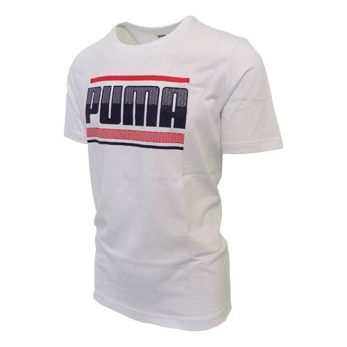 PUMA GRAPHIC BRANDED WHITE TEE