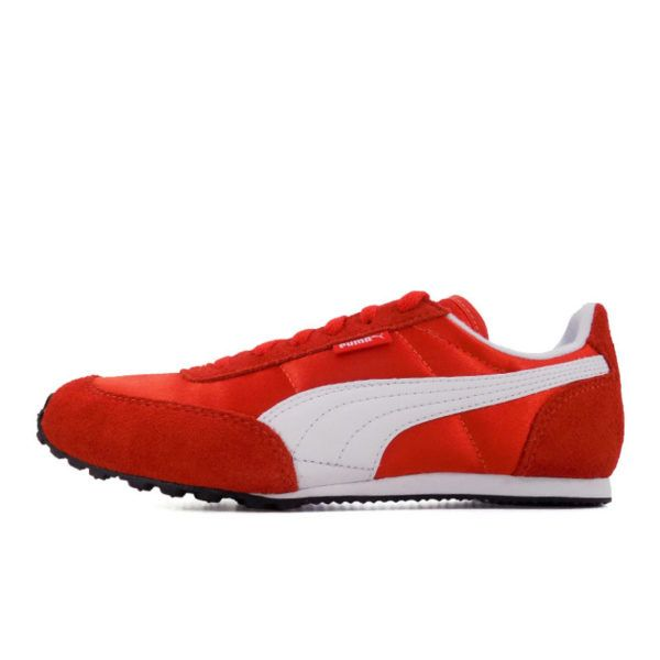 PMA2016R PUMA MAYA SATIN WOMENS RED WHITE 372615 03