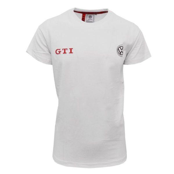 volkswagen gti embossed 3d logo tshirt white vw48w b7d