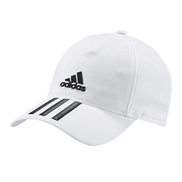adidas performance c40 3 stripe climalite cap white black add2433wb 4e6