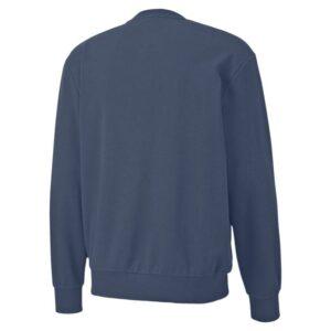 puma rebel bold crew sweatshirt mens dark denim pma2174dn 02e