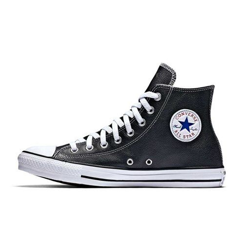 CONVERSE ALL STAR BASIC LEATHER HI BLACK WHITE ALLBW x