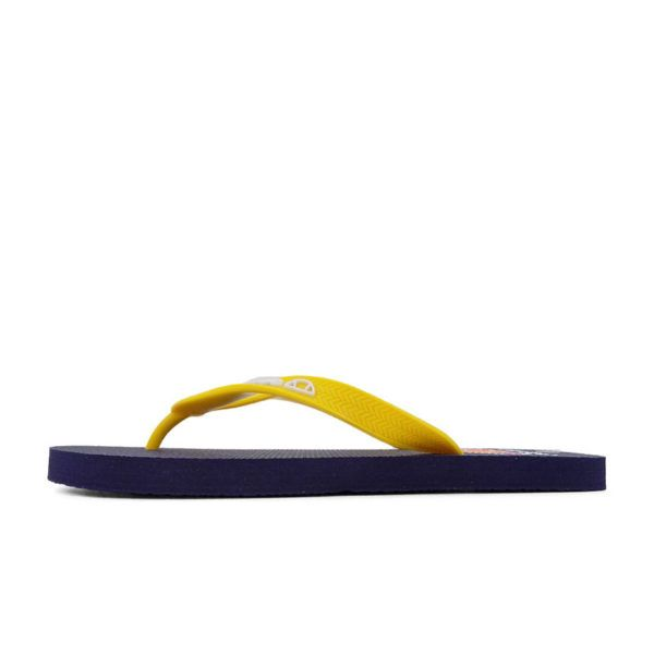 ELL1131DB Fashion Flip Flops Mens Yellow M201293A V1
