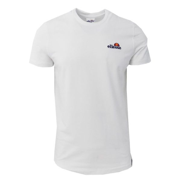 ELL841W ELLESSE CHEST EMBROIDERED T SHIRT MENS WHITE ELW20 009A 1