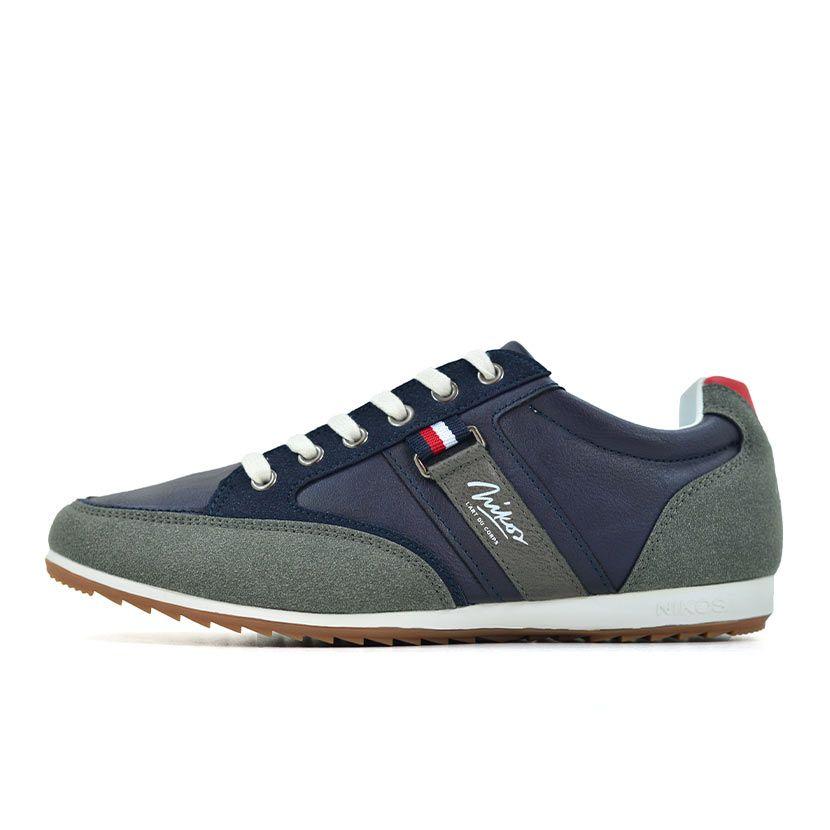 KOS921 Nikos Casual Shoes Navy Dark Grey NKS20 301F V1