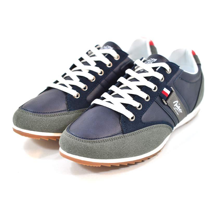 KOS921 Nikos Casual Shoes Navy Dark Grey NKS20 301F V3