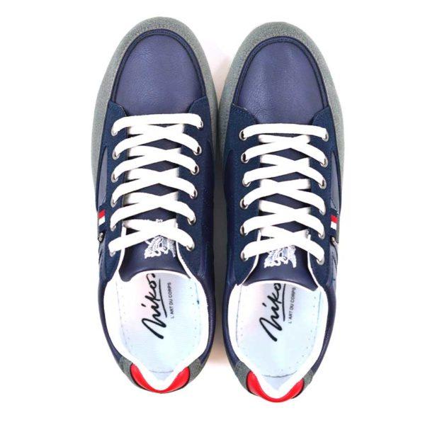 KOS921 Nikos Casual Shoes Navy Dark Grey NKS20 301F V4