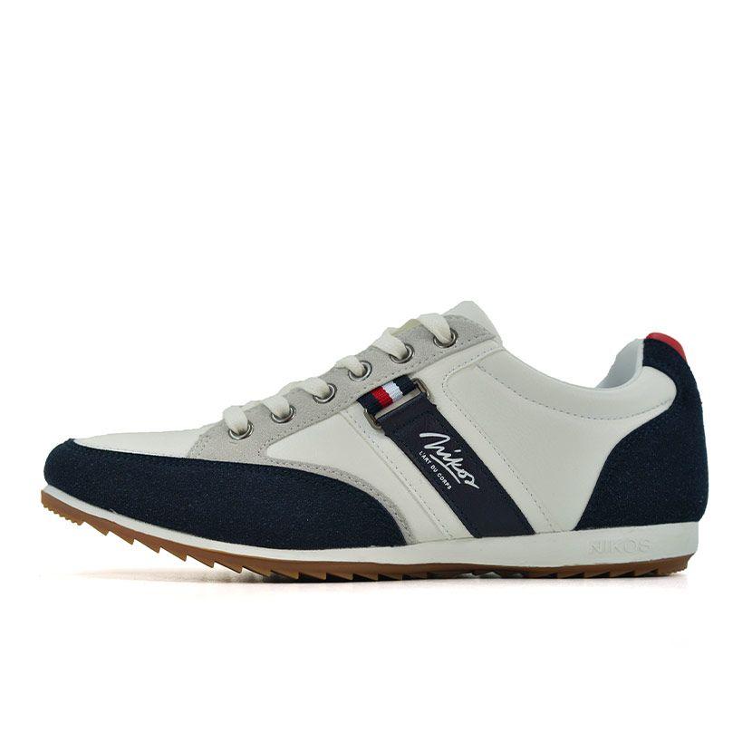 KOS921W Nikos Casual Shoes White Navy Red NKS20 301F V1