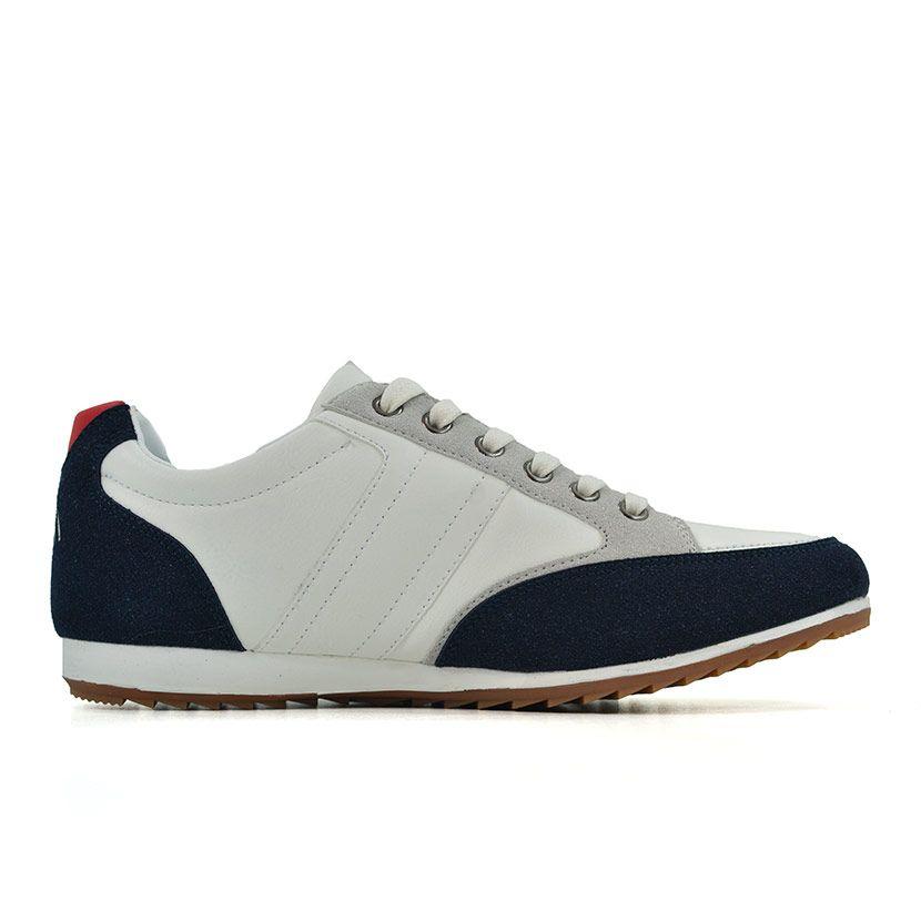 KOS921W Nikos Casual Shoes White Navy Red NKS20 301F V2