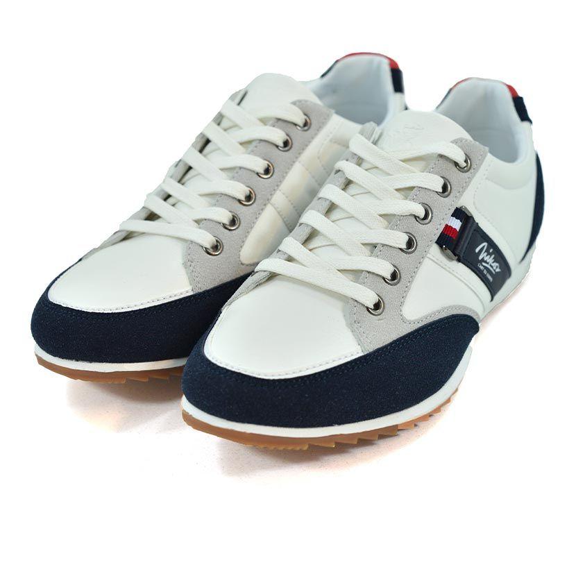 KOS921W Nikos Casual Shoes White Navy Red NKS20 301F V3